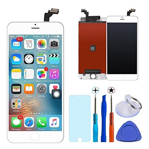 GEEKPLACE LCD-display voor iPhone 8 wit, LCD-display touchscreen LCD-display vervangend scherm voor iPhone 8 Display Kit met gereedschapsset - wit (4,7 inch) (iPhone 8, wit)