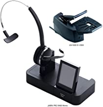 Jabra PRO 9460 Mono Flex Boom Wireless Headset with GN1000 Remote Handset Lifter for Deskphone, Softphone & Mobile Phone