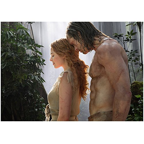 The Legend of Tarzan (2016) 8 inch by 10 inch PHOTOGRAPH Alexander Skarsgard & Margot Robbie in Front of Waterfall in Jungle kn