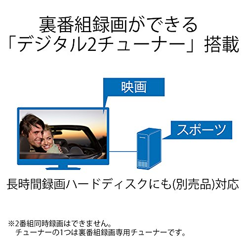 『シャープ 40V型 液晶 テレビ AQUOS LC-40W35-W フルハイビジョン 外付HDD対応(裏番組録画) ホワイト 2016年モデル』の6枚目の画像