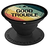 John Lewis Get In Good Necessary Trouble Retro Vintage Gift PopSockets Grip and Stand for Phones and Tablets