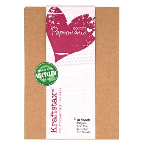 12,7x 17,8cm Kraftstax Premium Papier fügt Eco tonkartons–20recyceltem Blatt