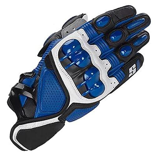 Pokem&Hent Guantes de carreras todoterreno motocicleta bicicleta de montaña off-road locomotora motocicleta guantes azul L