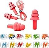 12 pares de tapones de silicona para protección auditiva, reutilizables, para dormir, ronquidos, natación, concierto, estudio, trabajo, tiro, motocicleta, etc.