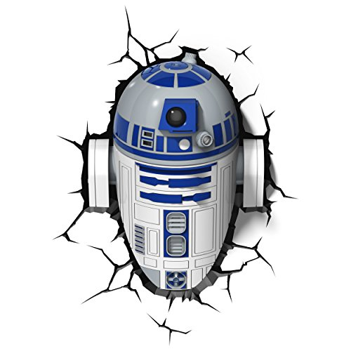 3D Deco Star Wars R2-D2 Wall Light (With Remote and Timer)