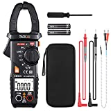 Digital Clamp Meter, Tacklife CM02A 600 Amp TRMS 6000 Counts NCV with AC Current AC/DC Voltage Test Temperature Measure Auto-Ranging Multimeter