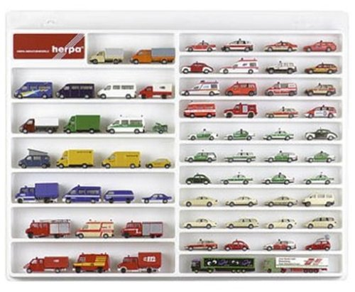 herpa 029209, weiß 029209-PKW/Transporter-Schaukasten, Hängevitrine für Modellautos und Flugzeuge mit Liebe zum Detail
