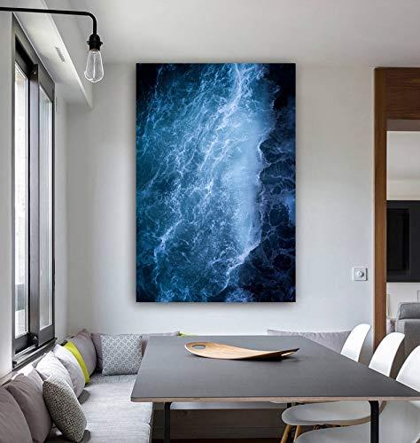 Zuverlässige Kunst Ozean Leinwand Malerei Kunstdruck Poster Bild Wand moderne Dekoration Wohnzimmer Tier Malerei Wanddekoration rahmenlose Leinwand Malerei A60 60x80cm