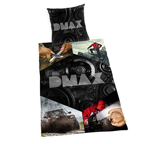 Herding DMAX Bettwäsche-Set, Wendemotiv, Bettbezug 135 x 200 cm, Kopfkissenbezug 80 x 80 cm, Baumwolle/Renforcé