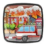 A Village On Fire - Tiradores y pomos para gabinete de bomberos (4 piezas)