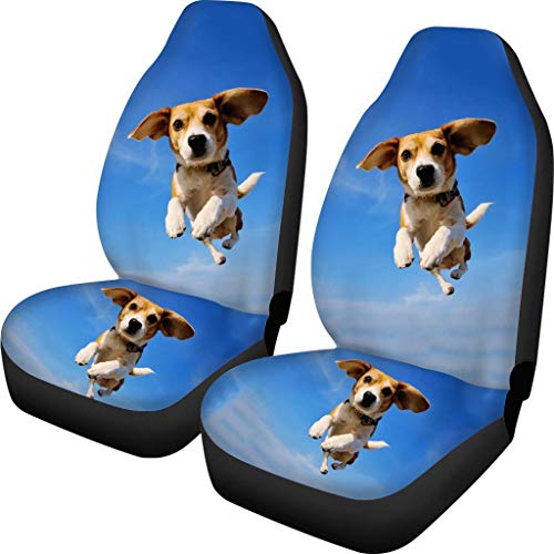 Jumping Beagle Print Car Seat Cover