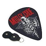 Motleycrue モトリー・クルー ギターピック 3種類の厚さ 6枚セット 初心者用 それぞれ厚さ ピック ウクレレ 音楽ギフト ケース付き