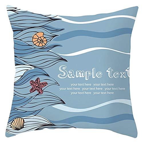 Socoz Kissenbezüge für Kinder, Polyester, Muscheln, Seestern, Blau