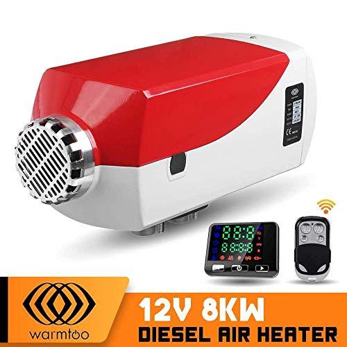 STHfficial Diesel luchtverwarmer 12 V 8000 Watt LCD thermostaat afstandsbediening metalen behuizing auto staande verwarming machine voor vrachtwagens boten caravan RV bus MetalShellred.
