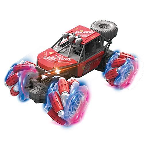 LJKD Coche de Control Remoto, camión eléctrico Todoterreno de Alta Velocidad de 2,4 GHz para niños y niñas para niños y Adultos,Rojo