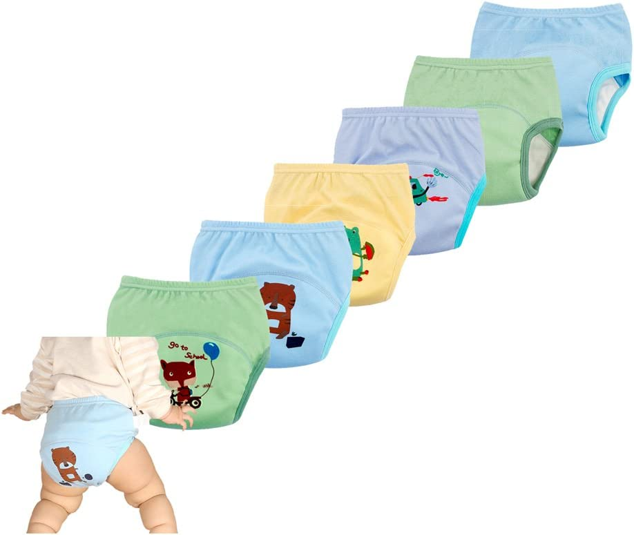 2018 New Anti Leakage Training Pants for Babies, Toddler 6 Layers Potty Training Pants (90b, 6 Pack)