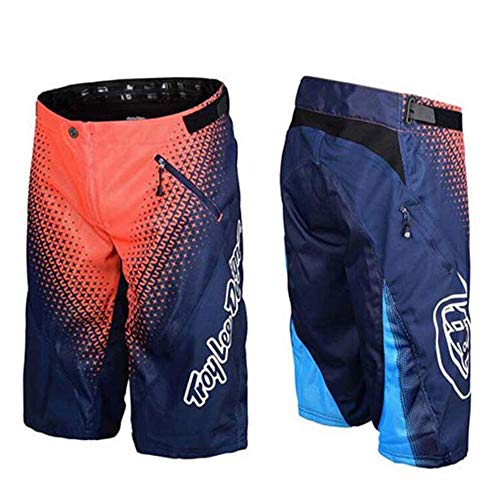 JINGLU Herren MTB Bikeshorts, Baggy Cycling Mountain Shorts, Leichte Outdoor-Sportshorts Hosen Multi-Colored-XXL