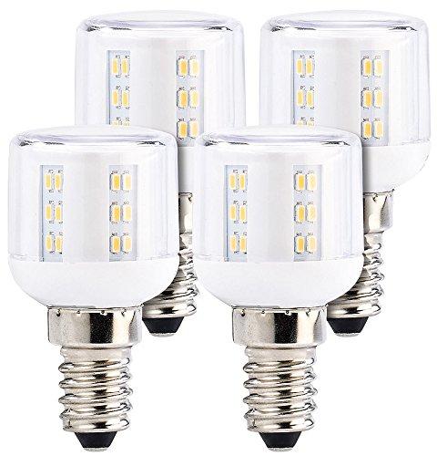 Luminea Kühlschrankbirne: Mini-LED-Kolben, E14, A++, 3W, 360°, 260 lm, warmweiß, 4er-Set (Kühlschranklampen)