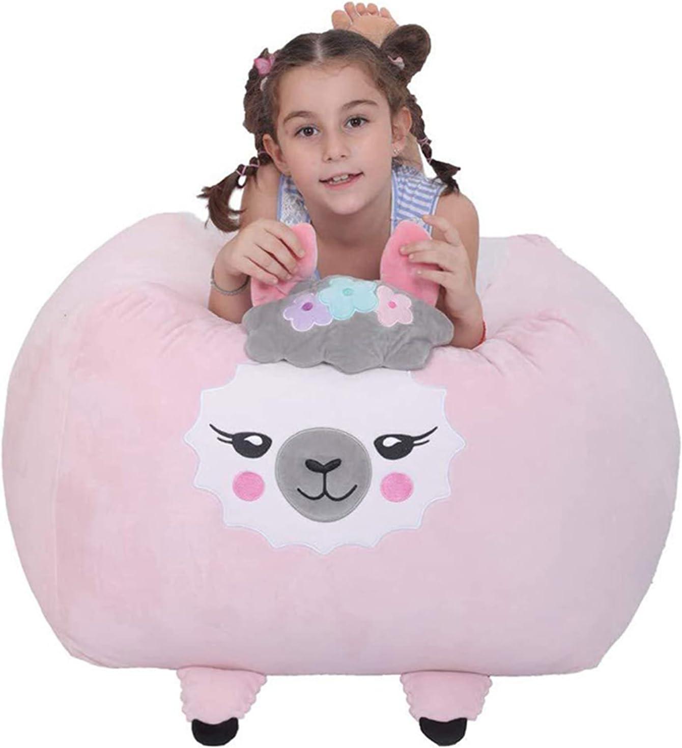 Mesa Mall LRZTF Sheep Stuffed Animal Storage Kids Short Bag Popularity Bean Chair Pl