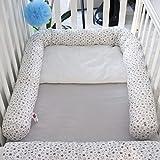 babymajawelt Bett Nestchen Schlange, Seitenschläferkissen 210 cm, Zugluftstopper, Nestchen für Babybett (Sterntaler)