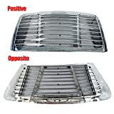 TYFYB Chrome Triple Plated Front Hood Radiator Grill Grille With Bug Screen Compatible with Freightliner Cascadia 2008-2017 Truck Replaces A17-15624-002