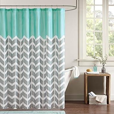 Intelligent Design ID70-365 Nadia Shower Curtain 72x72  Teal,72x72
