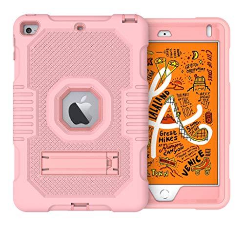 Dust Protection - Funda para iPad Mini 5 (ultrafina, parte trasera 3 en 1, silicona TPU, antigolpes, ultrafina, anticaídas, con soporte plegable) Oro Rosa Talla única