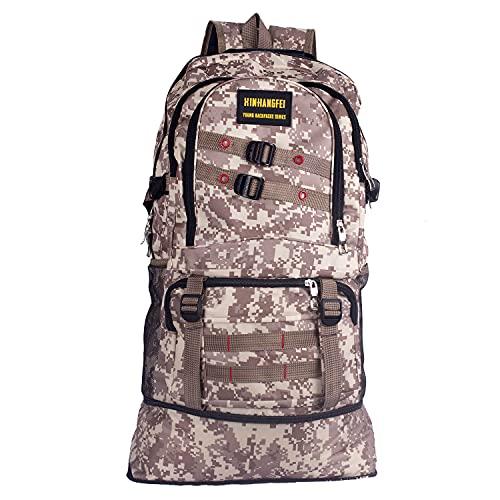 ZJWSRSST Frame Hiking Backpack,The Bottom Can be Expanded 40L-47L,Bug out bag,Military Tactical Backpack,Assault pack,Internal Frame Backpack,3 day Assault Pack (Multicolor)