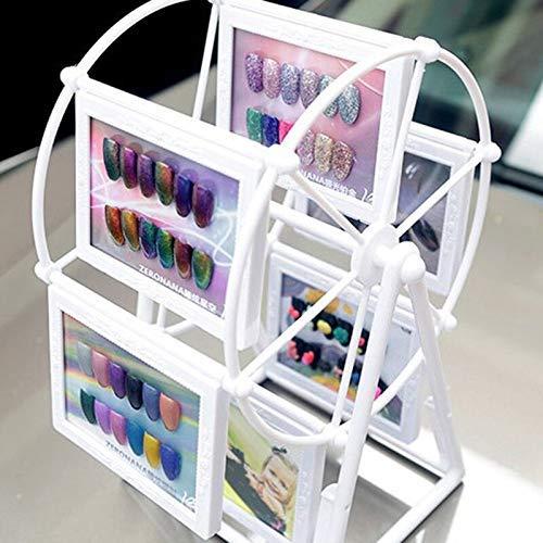 HZWLF Libro exhibición Color uñas Moda Esmalte uñas