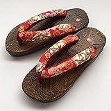 Flip Flop GetA Sabots Japonais Traditionnel Chinois Imprimé Chinese Kimono Flip Flops Accueil Femmes Chaussures Sandales en plein air Cosplay Costume-2_42 Pantoufles en bois ( Color : 3 , Size : 37 )