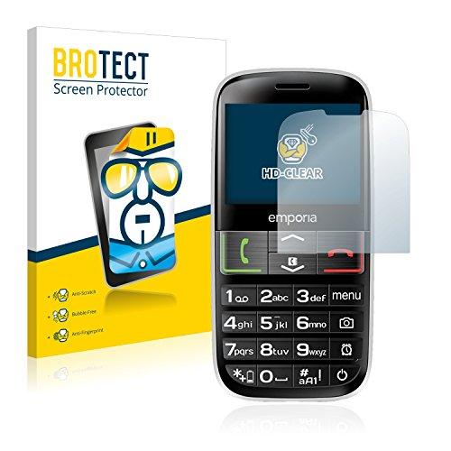 BROTECT Schutzfolie kompatibel mit Emporia Euphoria V50-3G (2 Stück) klare Bildschirmschutz-Folie