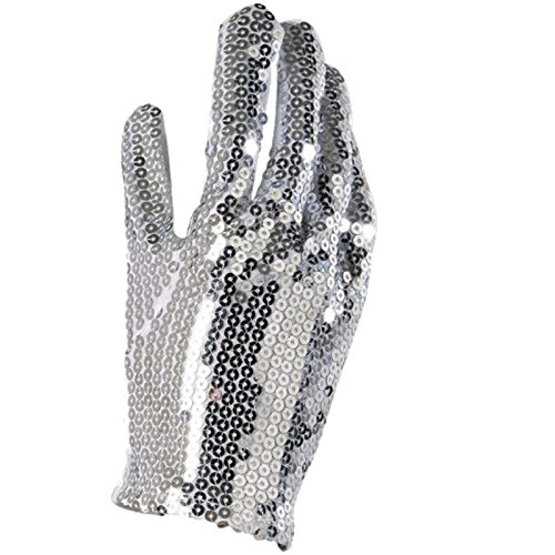 Unbekannt Paillettenhandschuh für Michael Jackson Kostüme Handschuh silberne Pailletten