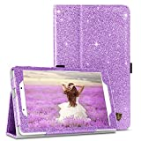 BENTOBEN Case for Samsung Galaxy Tab A 8.0 Case 2019, Slim Fit Glitter Sparkly Flip Folio PU Leather Stylus Holder Kickstand Protective Smart Cover for Samsung Galaxy Tab A8 2019, Purple/Lavender
