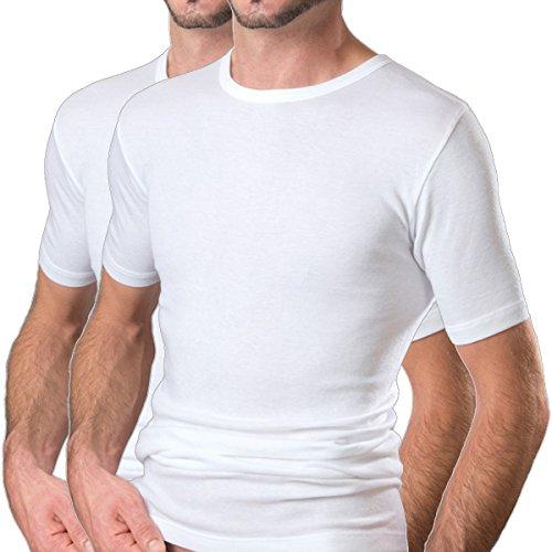 HERMKO 16800 2er Pack Herren Business Kurzarm Unterhemd angenehm weich Dank Modal, Größe:D 7 = EU XL, Farbe:weiß