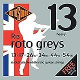 Rotosound R13 Nickel Heavy Gauge Electric Guitar Strings (13 17 26 34 44 54)