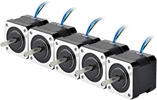 STEPPERONLINE 5PCS Nema17 Stepper Motor 2A 64oz.in 40mm Body 4-lead 1m Cable W/Connector DIY CNC
