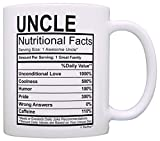 Fathers Day Gifts for Uncle Nutritional Facts Label Funny Gifts for Uncle Gag Gift Coffee Mug Tea Cup White