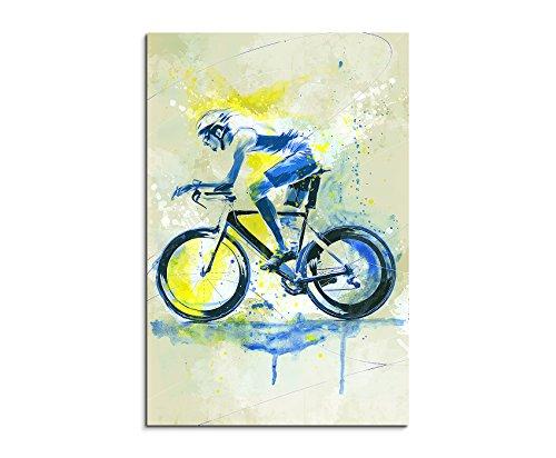 Paul Sinus Art Radsport 90x60cm SPORTBILDER Splash Art Wandbild Aquarell Art
