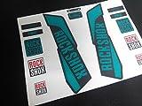 Ecoshirt 1L-0OV0-88B9 Pegatinas Rock Shox Pike 2016 Eco06A Stickers Aufkleber Adesivi Bike, Turquesa 054
