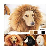 Qiao Niuniu New Pet Costume Lion Mane Wig for Dogs Easter Halloween Clothes Festival Fancy Dress up-Color:White/Size: Large