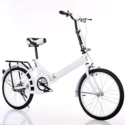 20 Inch Vouwfiets, High Carbon Steel Student Bike, Ladies Bike Outdoor Commuter Fiets,C,20inch