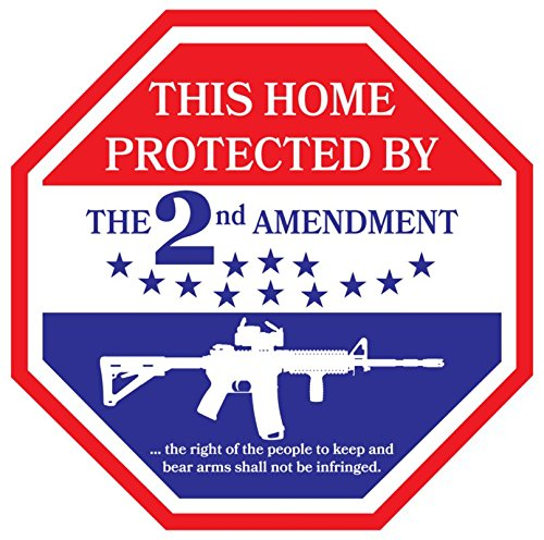 DHDM Decals NI428 This Home is Protected by The 2nd Amendment Decal | 5-Inches by 5-Inches