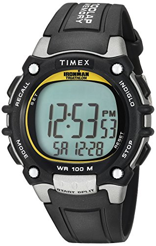 Timex Men's T5E231 Ironman Classic 100 Black/Yellow Resin...