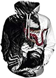 FLYCHEN Men's 3D Hoodie Pullover Print Pattern Fashion Sweatshirt Sportswear Alien Invasive Organism SM