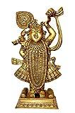 Shreenathji god Brass Collectible Handicraft Art by BharatHaat™BH00034
