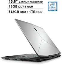 Dell Alienware 2019 M15 15.6-Inch FHD 1080P Gaming Laptop - 8th Gen Inter 6-Core i7-8750H up to 4.1GHz, NVIDIA GeForce GTX 1060 6GB, 16GB DDR4 RAM, 512GB SSD (Boot) + 1TB HDD, Backlit KB, Windows 10