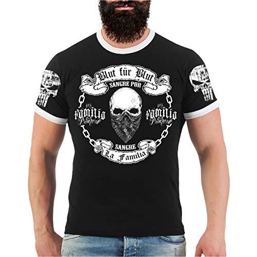 Männer und Herren T-Shirt La Familia Blut für Blut (mit Rückendruck) Größe S - 8XL