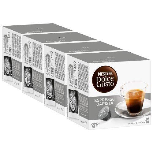 Nescafé Dolce Gusto Espresso Barista, Stark, Kaffee, Kaffeekapsel, 4er Pack, 4 x 16 Kapseln