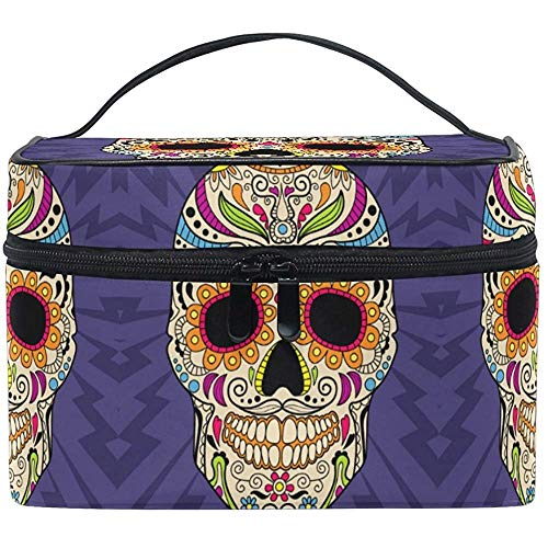 Trousse de maquillage Paisley Skull Travel Cosmetic Bags Organizer Train Case Toiletry Make Up Pouch