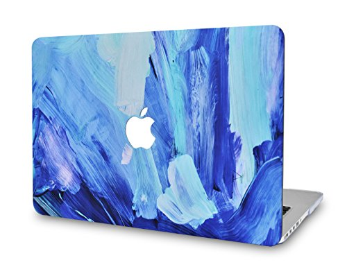 LuvCase Laptop Case Compatible with Old MacBook Pro 13' Retina Display (2015/2014/2013/2012) A1502/A1425 Rubberized Plastic Hard Shell Cover (Oil Paint 5)